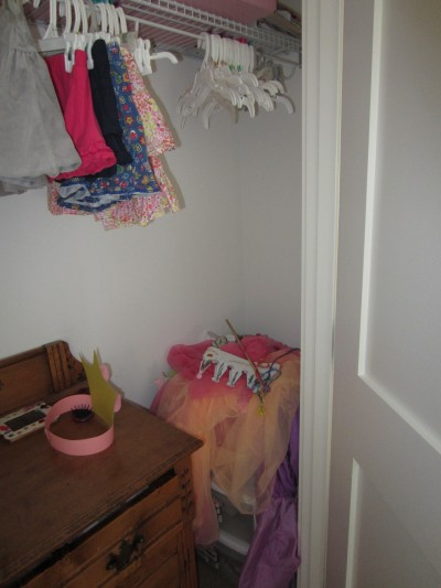 Tessa's messy closet