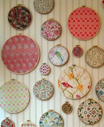 embroidery hoop fabric, embroidery hoop fabric wall art